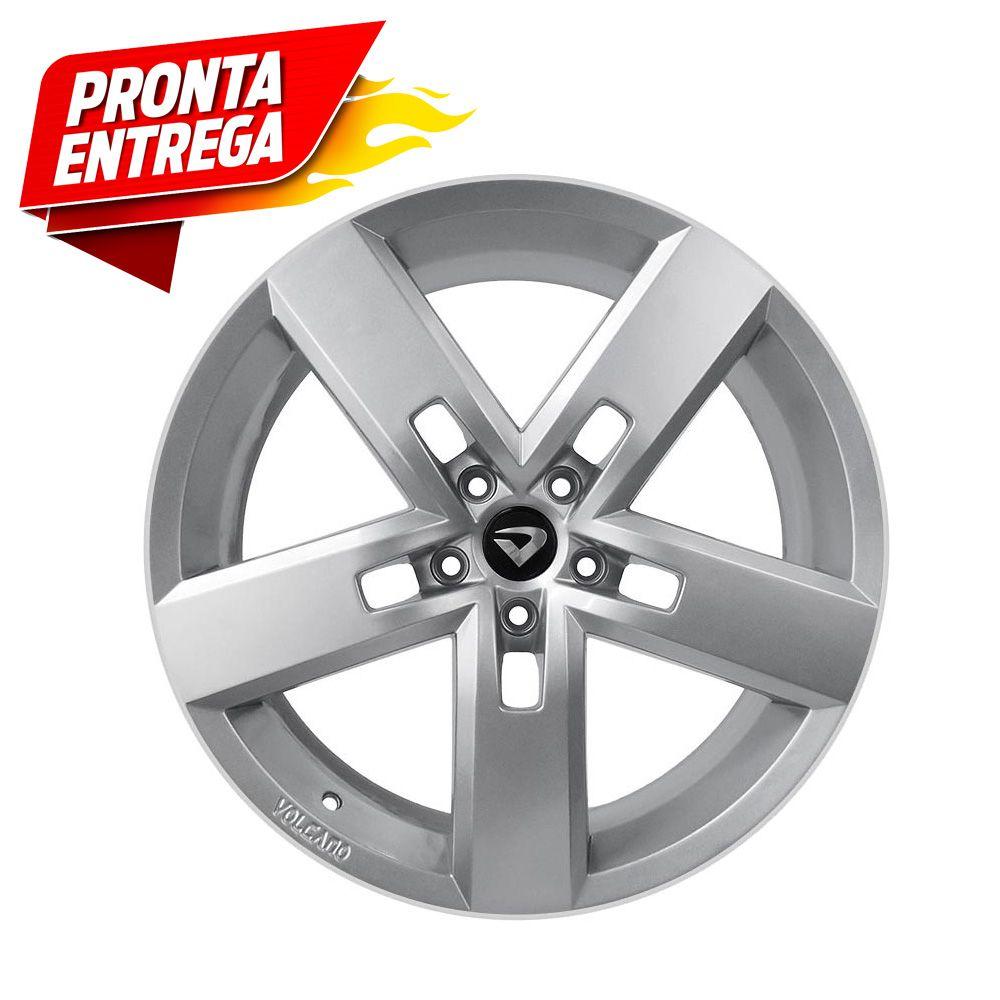 kit 4 rodas aro 17x7 Volcano V-130 Strong 5X110 Prata