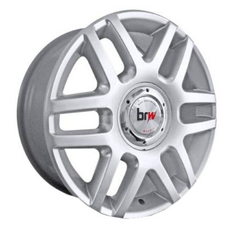 kit 4 Rodas Aro 17x7 Vw Polo Europeu 4x100/108 Prata BRW 1090