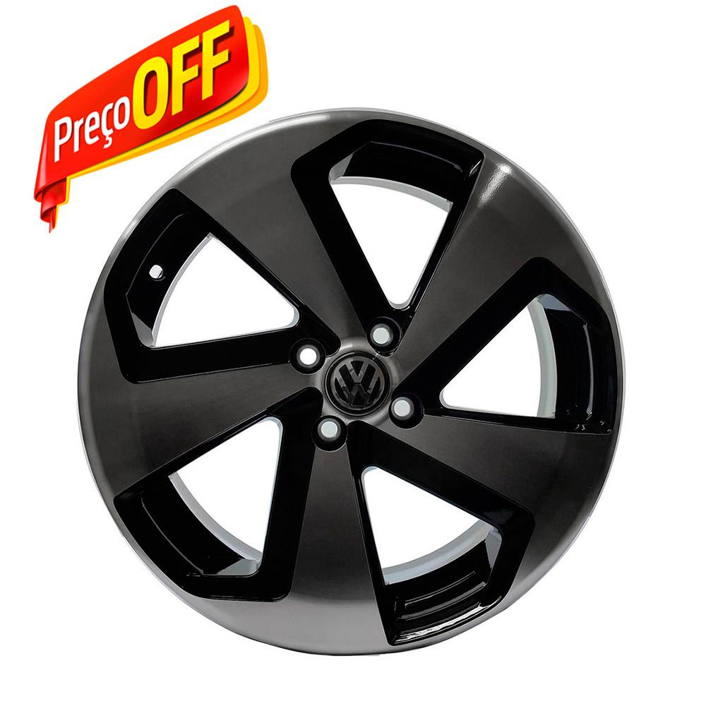 kit 4 Rodas Aro 18x6 Vw Golf Gti vc 5x100 BD Zk-650