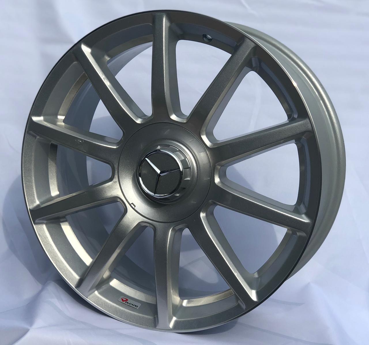 kit 4 Rodas Aro 18x7 Daimler Volcano 4x100/114,3 Prata