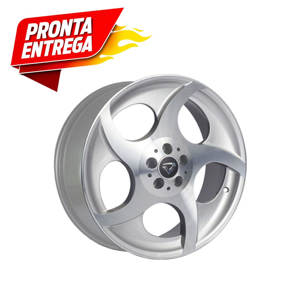 kit 4 Rodas Aro 18x7 Munique Volcano 4x100 Prata