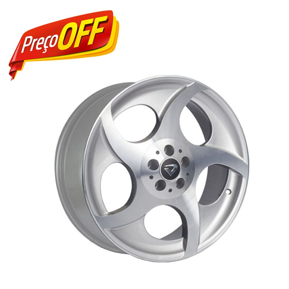 kit 4 Rodas Aro 18x7 Munique Volcano 5x100 Prata