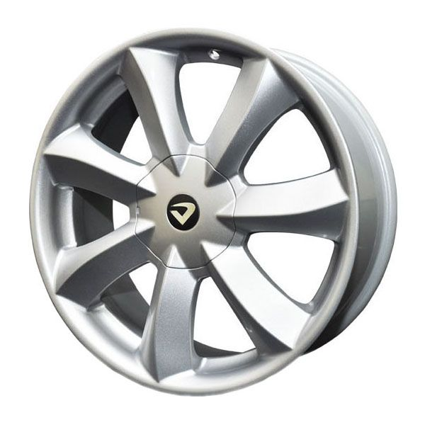 kit 4 rodas aro 18x7  Volcano Santorini 5X100/5x114,3 Prata