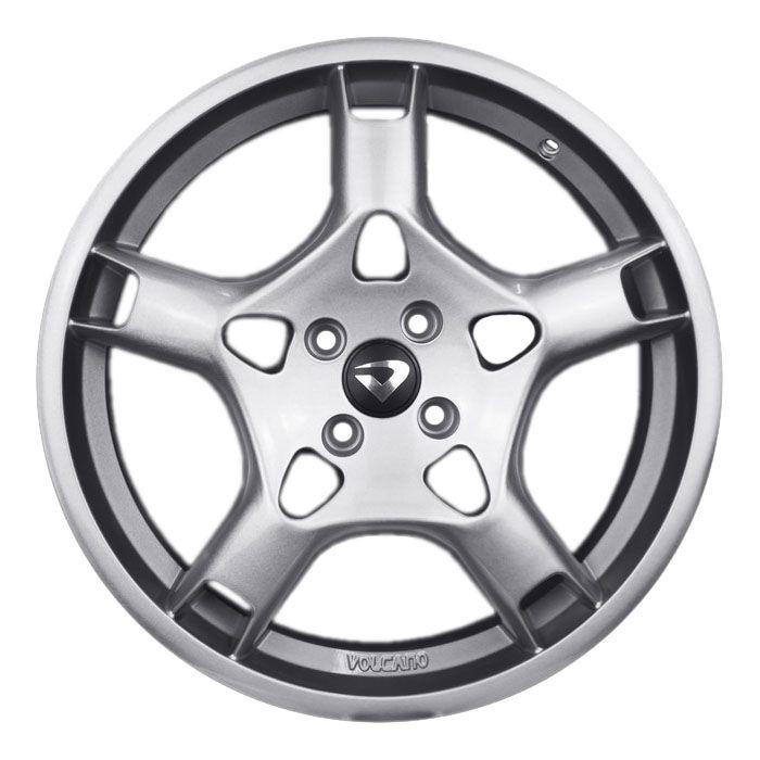kit 4 rodas aro 18x7 Volcano Stuttgart Porsche 4X100 Prata