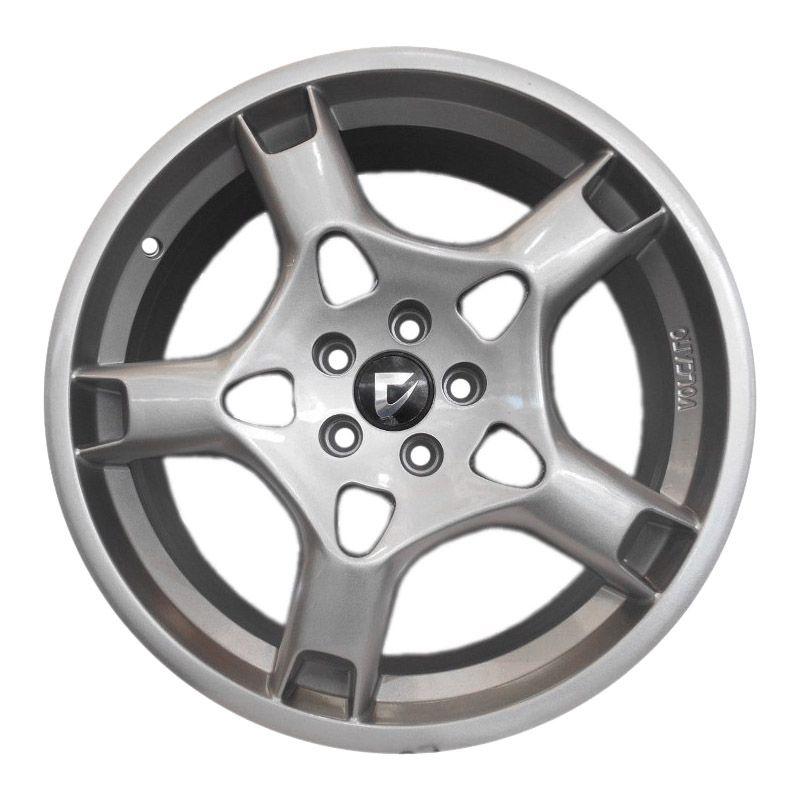 kit 4 rodas aro 18x7 Volcano Stuttgart Porsche 5x114,3 Prata