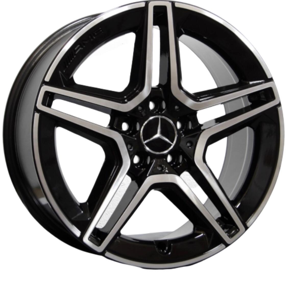 Kit 4 Rodas Aro 18x8/8,5 Raw Mercedes C300 5X112 BD C37 Duas Talas