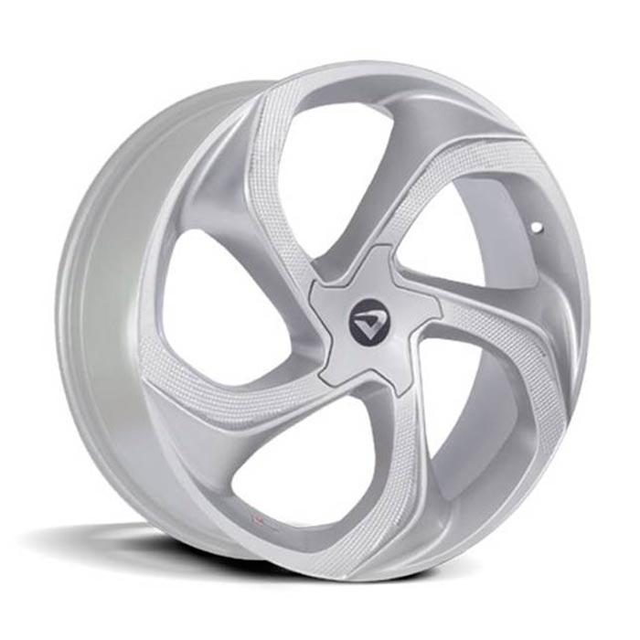 kit 4 rodas Aro 20x7,5 Concept Volcano 5x108 Prata