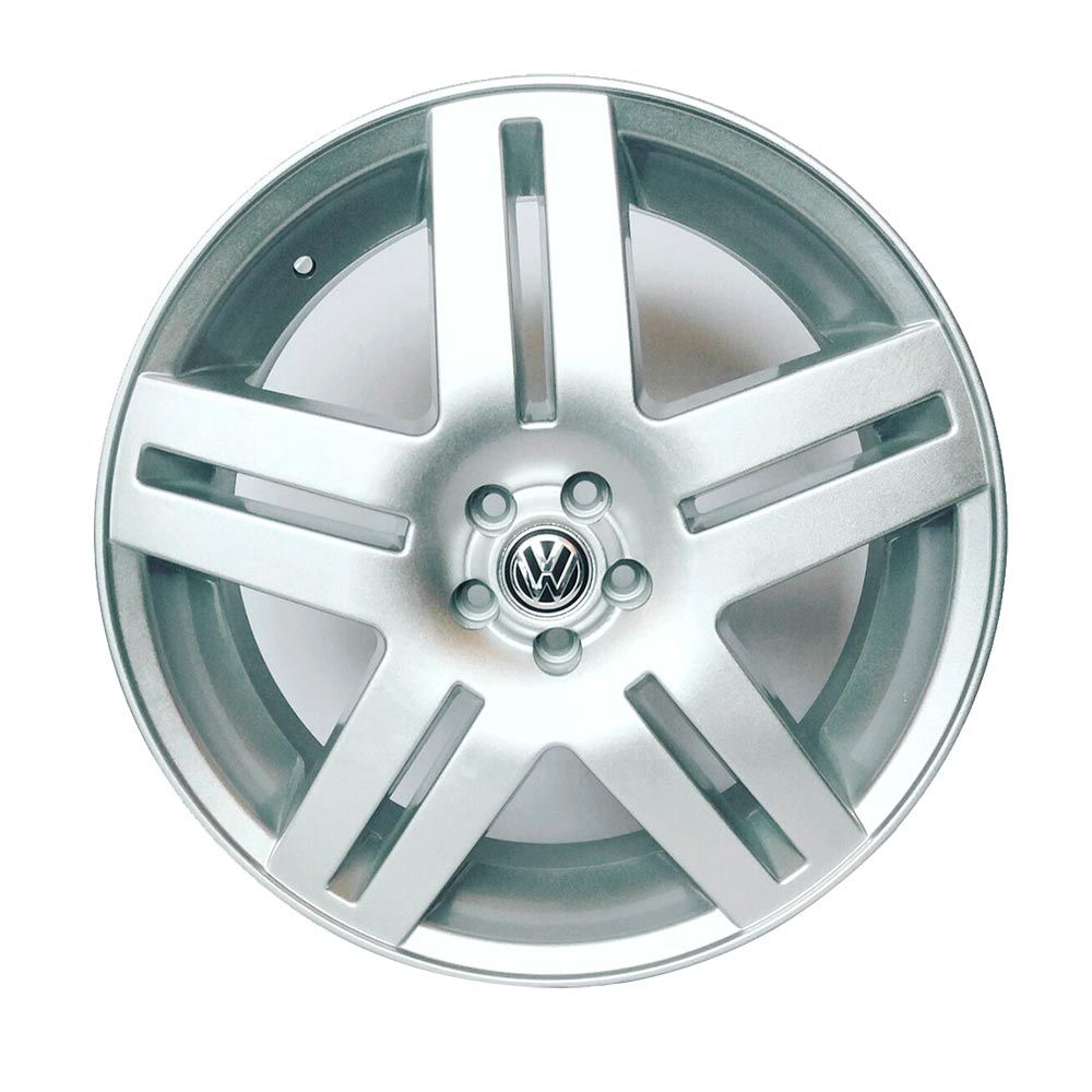 kit 4 Rodas Aro 20x7,5 Vw Long Beach 5x100 Prata BRW 640