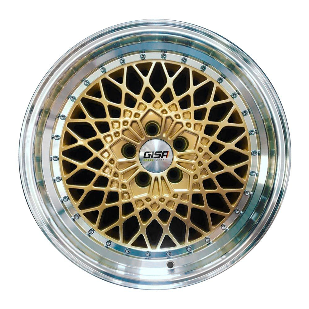 kit 4 rodas Gisa D2749 aro 17 5x100 7,5 gold e diamante