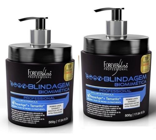 03 Mascara Blindagem Biomimética Keratina 500g  - Forever Liss
