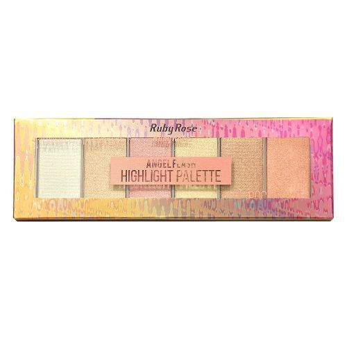 Paleta De Iluminador Ruby Rose Angel Flash 6 Cores Hb-7513