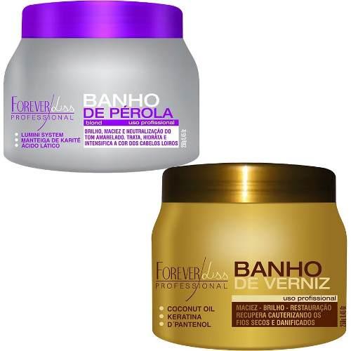 Banho De Pérola 250g + Banho De Verniz 250g - Forever Liss