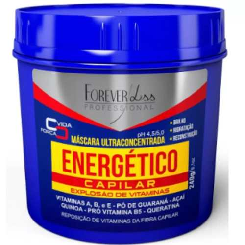 Cronograma Capilar Mascara Energetico 240g + Uti 240g + Desmaia Cabelo 350g