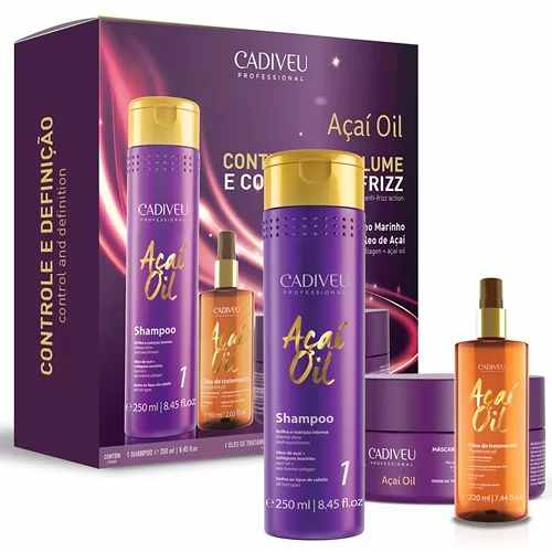Kit Cadiveu Professional Acai Oil - Anti Frizz + Reduz Volume