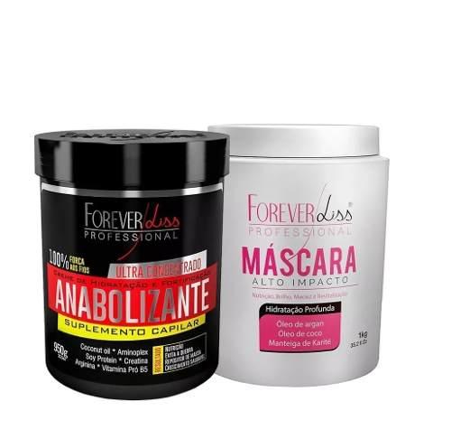 Kit Mascara Hidratacao De Alto Impacto 1kg + Anabolizante 950g