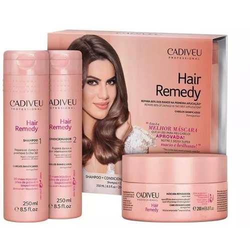 Kit Shampoo E Condicionador + Mascara Hair Remedy Cadiveu