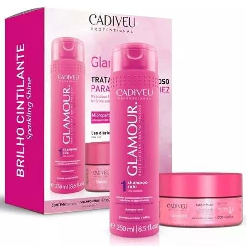 Kit Cadiveu Glamour Shampoo + Mascara - Tratamento Milagroso