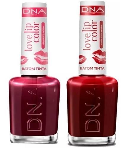 Kit 14 Batons Liquido Dna 7 Love Iip Red E 7 Love Lip Cherry