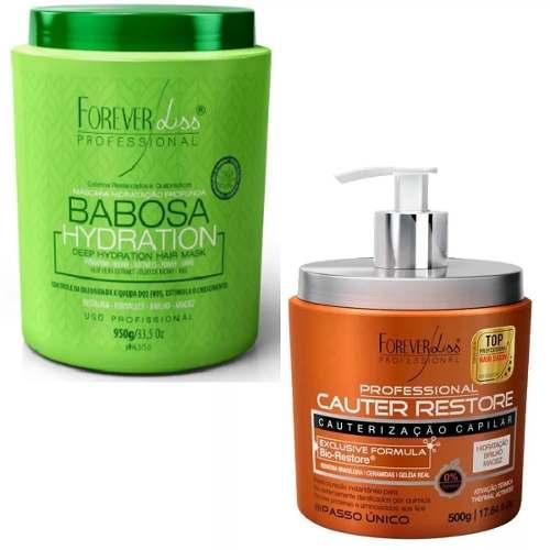 Kit Babosa 950g + Cauter Restore 500g Forever Liss
