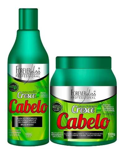 Kit Cresce Cabelo forever liss Mascara 1kg + Shampoo