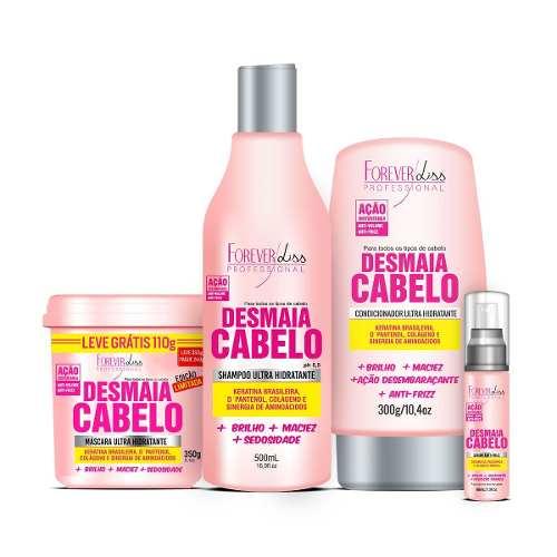 Kit Desmaia Cabelo Máscara 350g + Shampoo 500ml + Leave-in + Serum