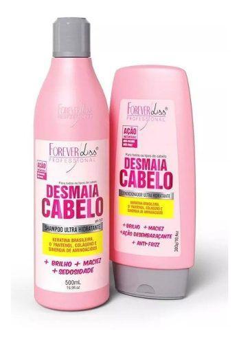 Kit Desmaia Cabelo Shampoo E Condicionador Forever Liss