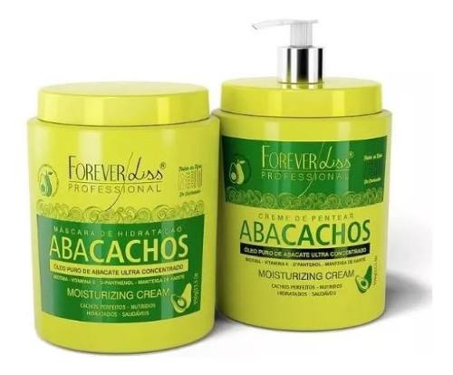 Kit Mascara e Leave-in 950g para Cachos - Abacachos Forever Liss