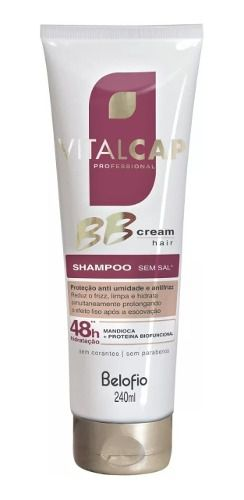 Bb Cream Hair Shampoo 240 Ml - Belo Fio Vitalcap