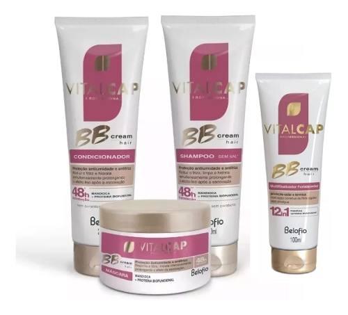 Kit Completo Bb Cream Hair Belo Fio Vitalcap