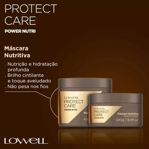 Máscara Lowell Protect Care Power Nutri 240g