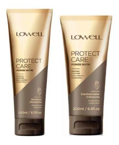 - Lowell Protect Care Power Nutri Shampoo + Condicionador 200ml + Máscara 240g