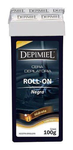 Cera Roll-on Cera Negra 100g Hidrata Pelos Grossos Depimiel