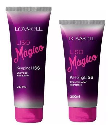 Kit Liso Mágico Lowell Shampoo + Condicionador