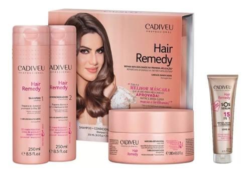 Kit Cadiveu Hair Remedy E Sos Serum 15 In 1 - 50ml - 4 Produtos