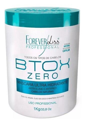 Btox Zero Redutor De Volume 1kg + Shamp Detox Forever Liss