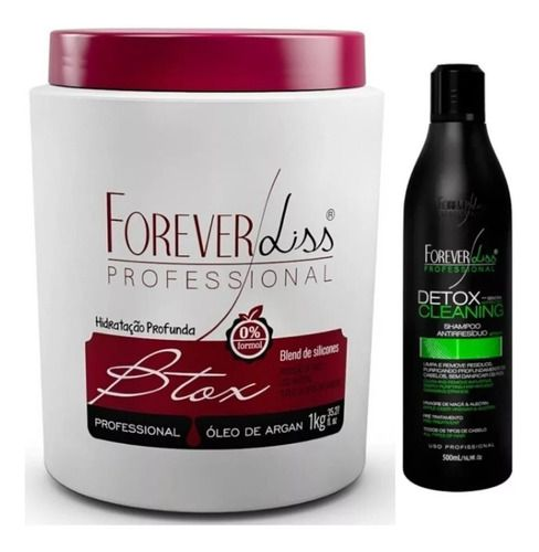 Kit Shampoo Antirresiduos Detox Capilar 500ml Btox Argan 1kg