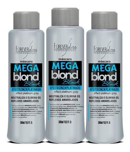 3 Mega Blond Black Mascara Matizadora 500ml