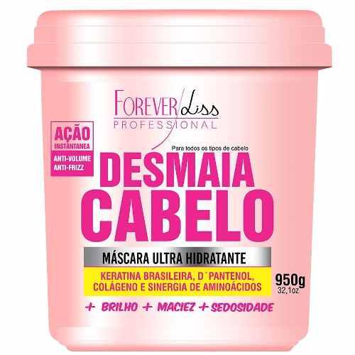 Máscara Desmaia Cabelo 950g + Máscara Cresce Cabelo 1kg + Máscara Banho de Verniz 250g - Forever Liss