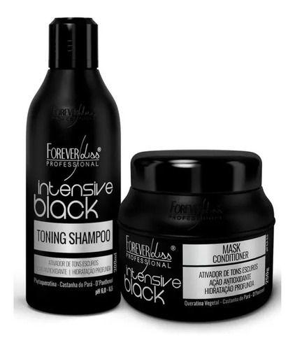 Kit Shampoo E Mascara Matizador Intensive Black Forever Liss