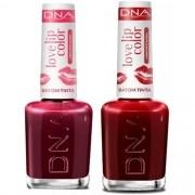 Kit 14 Batons Tinta Dna - 7x Love Red - 7x Love Cherry
