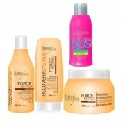 Force Repair Kit Shampoo 300ml + Condicionador 200ml + Mascara 250g + Sos 300ml