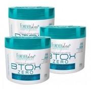 3 Btox Organico Zero Ultra Hidratante Forever Liss 250 Sem Formol