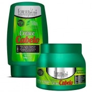 Kit Forever Liss Cresce Cabelo Máscara 250g + Leave-in 140g