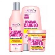 Kit Desmaia Cabelo Máscara 350g + Shampoo + Condicionador