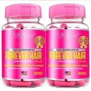 2x Forever Hair Crescimento Capilar 30 Cápsulas Forever Liss