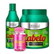 Shampoo + Mascara 1kg Cresce Cabelo + Forever Hair - Forever Liss
