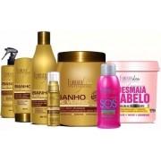 Kit Banho Verniz Completo c/ Mascara 1Kg + Mascara Desmaia Cabelo 950g + Sos