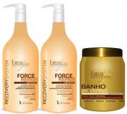 Banho De Verniz 1kg + Shampoo E Cond Force Repair 1lt. Cada