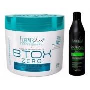 Combo Shampoo Detox 500ml Limpeza Profunda Btox Zero 250g