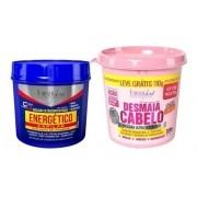 Energético Capilar 240g + Desmaia Cabelo 350g Forever Liss